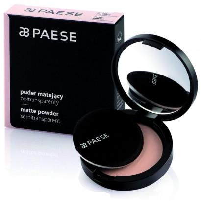Компактная прозрачная матирующая пудра PAESE