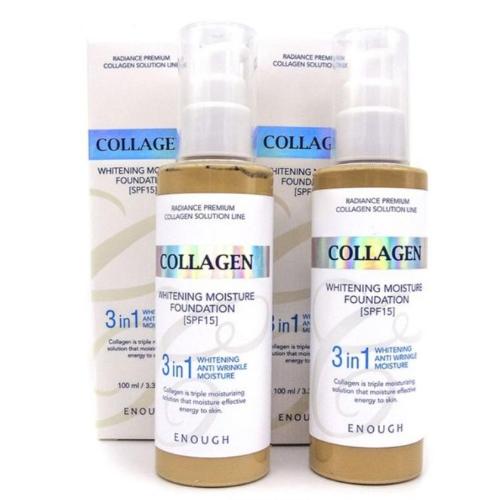 Тональный крем с коллагеном 3 в 1 для сияния кожи Enough Collagen Whitening Moisture Foundation SPF15