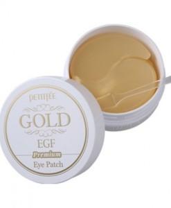 Гидрогелевые патчи для век с золотыми частицами и фактором роста EGF Petitfee Premium Gold & EGF Eye Patch